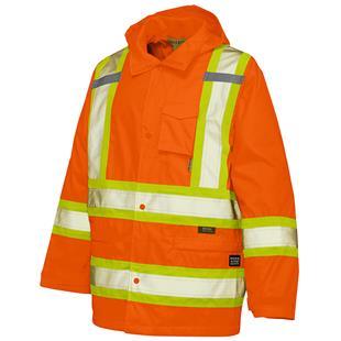 Work King 300D Safety Rain Jacket