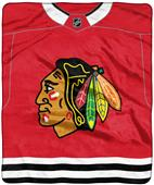 "Northwest NHL Chicago Black ""Jersey"" Raschel Throw"