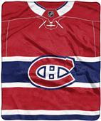"""Northwest NHL Canadiens """"Jersey"""" Raschel Throw"""
