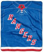"Northwest NHL Rangers ""Jersey"" Raschel Throw"