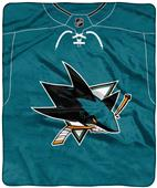 "Northwest NHL San Jose ""Jersey"" Raschel Throw"