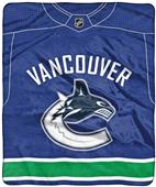 "Northwest NHL Vancouver ""Jersey"" Raschel Throw"