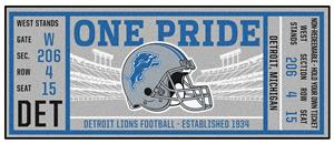 Fan Mats NFL Detroit Lions Ticket Runner