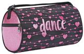 Sassi Designs Pink Heart Sparkle Small Roll Duffel