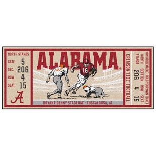 Fan Mats NCAA University of Alabama Ticket Runner