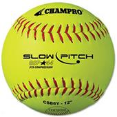 Champro Game .44 Slow Pitch ASA Softballs CSB6Y EA