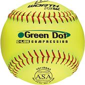 "Worth 11"" ASA Green Dot ProTac Slowpitch Softballs"