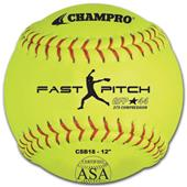 Champro ASA Game Fast Pitch Yellow Softballs (EACH
