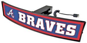 Fan Mats MLB Atlanta Braves Light Up Hitch Cover
