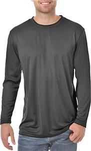 Blue Generation Adult L/S Solid Wicking T-Shirt