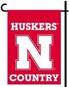Collegiate Nebraska 2-Sided Garden Flag