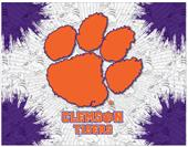 Holland Clemson University Logo Printed Canvas Art