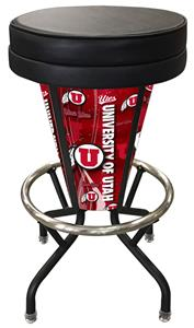 Holland University of Utah Lighted Bar Stool