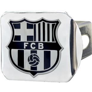 Fan Mats MLS FC Barcelona Chrome Hitch Cover
