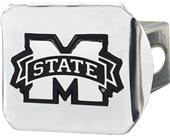 Fan Mats NCAA Mississippi State Chrome Hitch Cover
