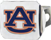 Fan Mats NCAA Auburn Chrome/Color Hitch Cover