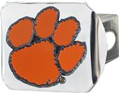 Fan Mats NCAA Clemson Chrome/Color Hitch Cover