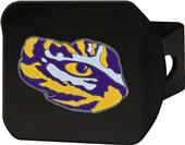 Fan Mats NCAA LSU Black/Color Hitch Cover