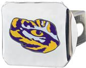 Fan Mats NCAA LSU Chrome/Color Hitch Cover