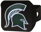 Fan Mats NCAA Michigan St. Black/Color Hitch Cover