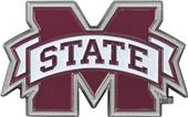 Fan Mats NCAA Mississippi St. Color Vehicle Emblem