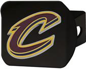 Fan Mats NBA Cleveland Black/Color Hitch Cover