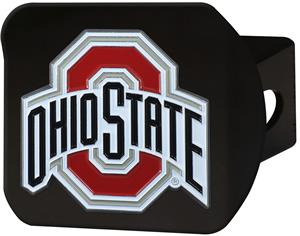 Fan Mats NCAA Ohio State Black/Color Hitch Cover