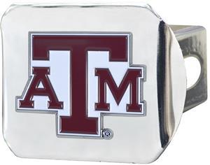 Fan Mats NCAA Texas A&M Chrome/Color Hitch Cover