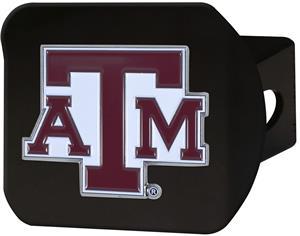 Fan Mats NCAA Texas A&M Black/Color Hitch Cover