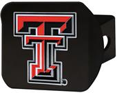 Fan Mats NCAA Texas Tech Black/Color Hitch Cover
