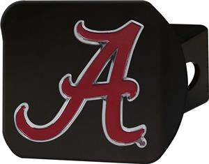 Fan Mats NCAA Alabama Black/Color Hitch Cover