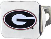 Fan Mats NCAA Georgia Chrome/Color Hitch Cover