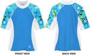 Tuga Swimwear Girls Seaside S/S Rash Guards