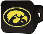 Fan Mats NCAA Iowa Black/Color Hitch Cover
