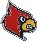 Fan Mats NCAA Louisville Colored Vehicle Emblem