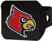 Fan Mats NCAA Louisville Black/Color Hitch Cover