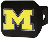 Fan Mats NCAA Michigan Black/Color Hitch Cover