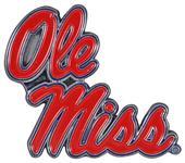 Fan Mats NCAA Ole Miss Colored Vehicle Emblem