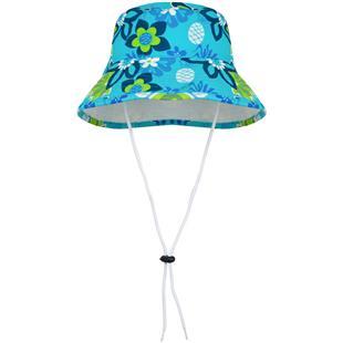 Tuga Girls Reversible Neck Strap Bucket Sun Hat