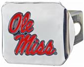 Fan Mats NCAA Ole Miss Chrome/Color Hitch Cover