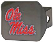 Fan Mats NCAA Ole Miss Black/Color Hitch Cover