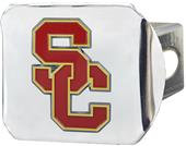 Fan Mats NCAA USC Chrome/Color Hitch Cover