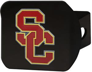 Fan Mats NCAA USC Black/Color Hitch Cover
