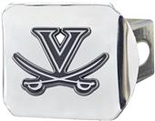 Fan Mats NCAA Virginia Chrome Hitch Cover