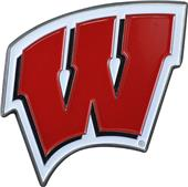 Fan Mats NCAA Wisconsin Colored Vehicle Emblem