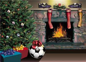 Fireplace Soccer greeting/holiday cards gifts