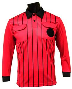 Official Soccer Referee Jerseys - LONG Sleeve -RED