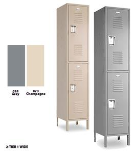 Vanguard Steel 2 Tier, Single Wide Gym Lockers