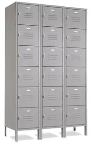 Vanguard Steel 6 Tier, 3 Wide Gym Lockers