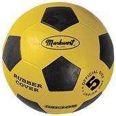 Markwort Yellow & Black Rubber Cover Soccer Balls